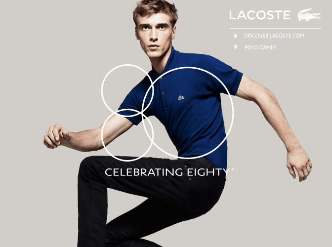 LACOSTE, CELEBRATING EIGHTY
